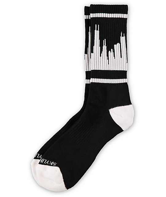 Skyline Classic City Chicago Black & White Socks