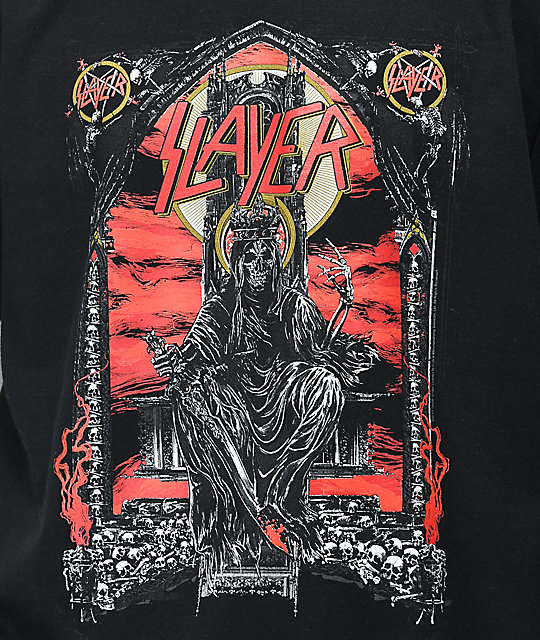Slayer Skull Throne camiseta negra