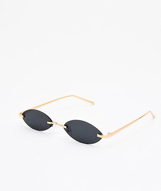 Sledge Hammer Black Mini Frameless Sunglasses Zumiez