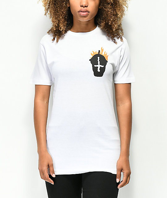 Slushcult Fire White T-Shirt