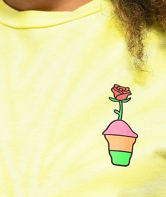 Slushcult Flower camiseta corta en color amarillo