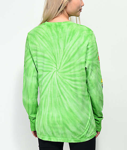 Slushcult x Gushers Tie Dye Lime Long Sleeve T-Shirt