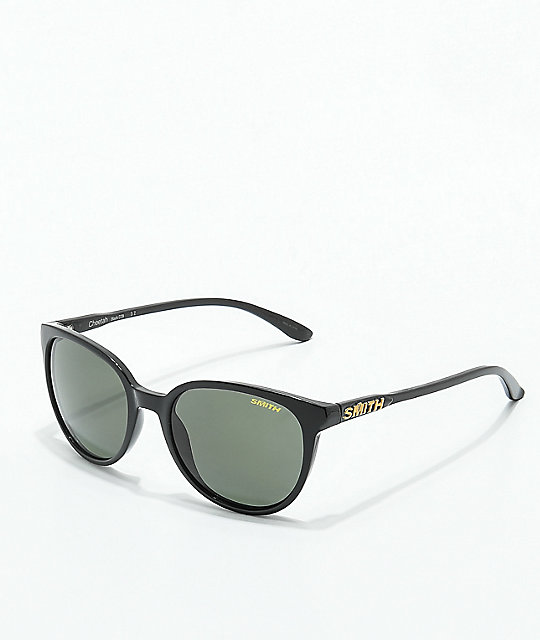 Smith Cheetah Black Polarized Grey-Green Sunglasses