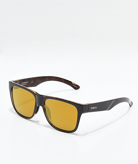 Smith Lowdown 2 Gravy Tortoise Polarized Sunglasses
