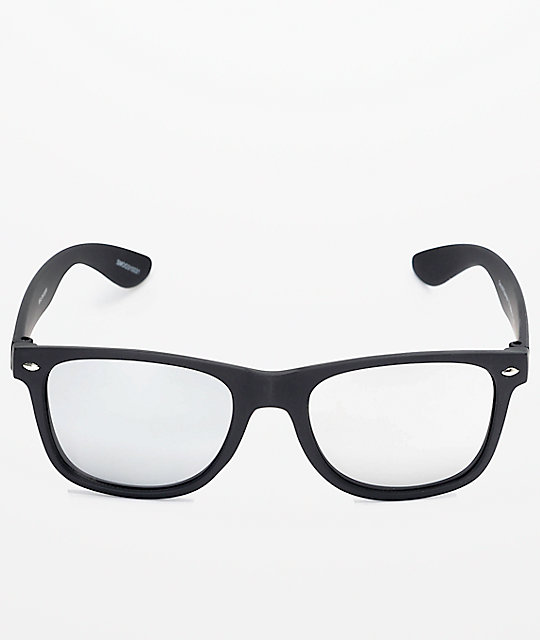 26c2aa60a3 ... Smooth Operator Black   Silver Mirror Lens Sunglasses