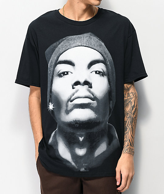Snoop Close Up Beanie camiseta negra