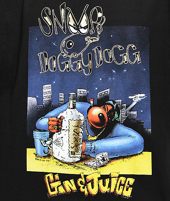 Snoop Dogg Gin And Juice Black T-Shirt