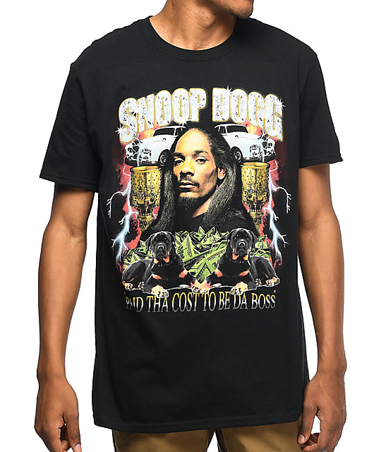 Snoop Dogg Paid Tha Cost camiseta negra