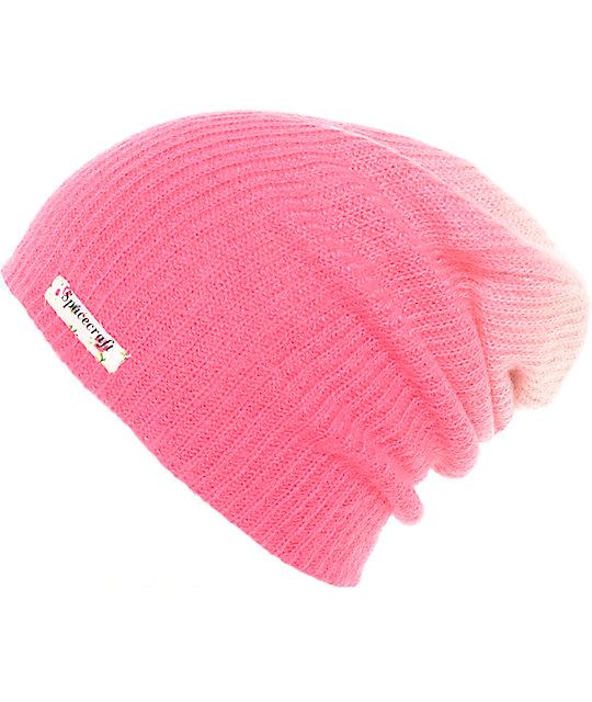 75a9b86136a Spacecraft Aurora Fade Pink Slouch Beanie