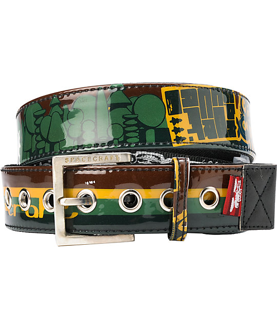 Spacecraft Rasta Merit Badge Belt