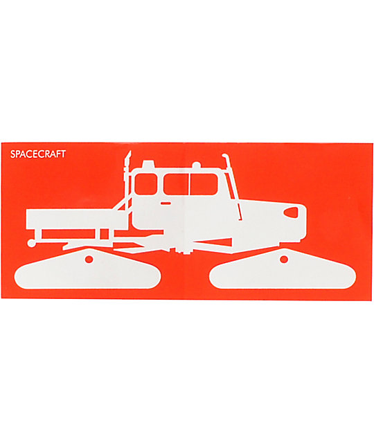 Spacecraft Red Medium Snowcat Sticker