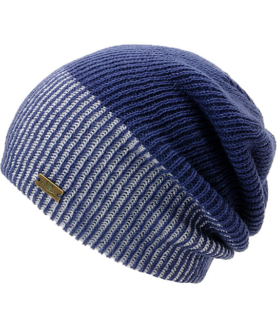 Spacecraft Simple 2-Tone Blue Beanie