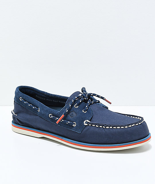 Sperry Authentic Original 2-Eye Nautical Navy Shoes