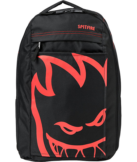 Spitfire Bighead Black & Red Skate Backpack