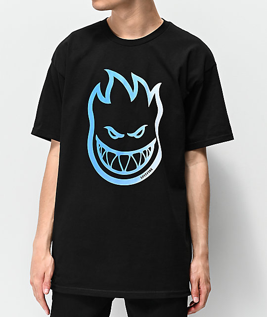 Spitfire Bighead Fill Black & Blue T-Shirt
