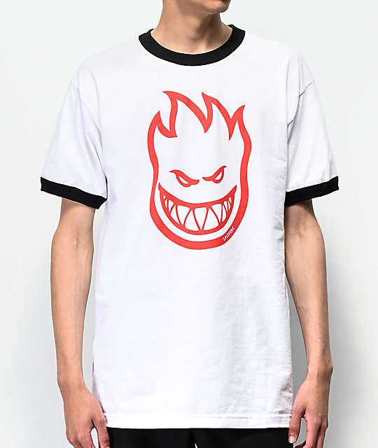 Spitfire Bighead Ringer White T Shirt by Spitfire