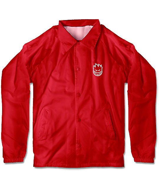 Spitfire Boys Bighead Double Red Coaches Jacket