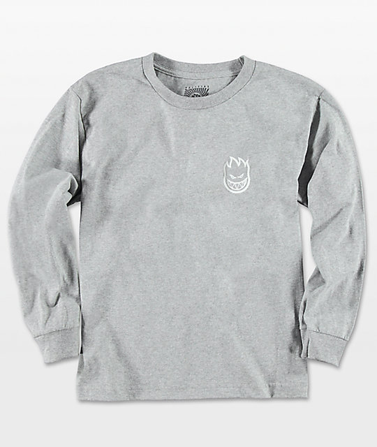 Spitfire Boys Steady Rockin Grey Long Sleeve T-Shirt