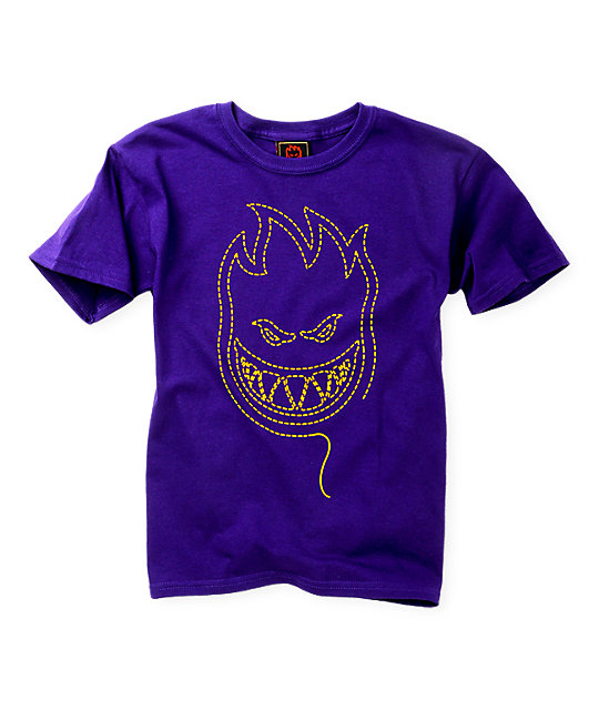 Spitfire Boys Unstitched Purple T-Shirt