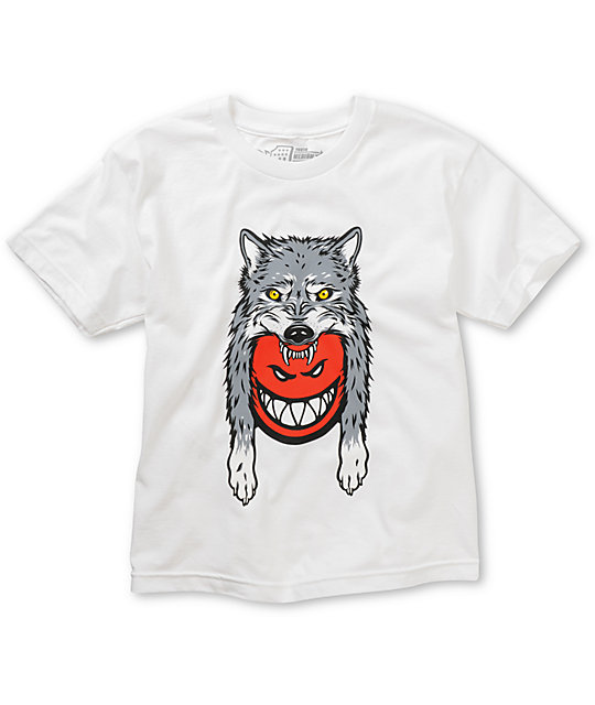 Spitfire Boys Wolf Burner White T-Shirt