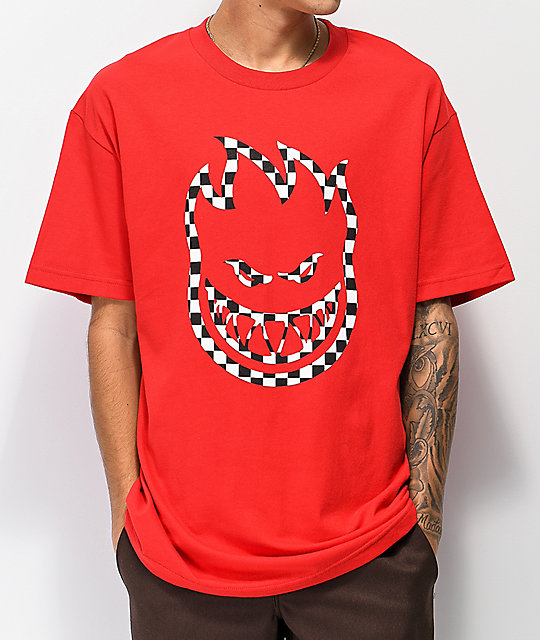 Spitfire Checkered Bighead Red T-Shirt