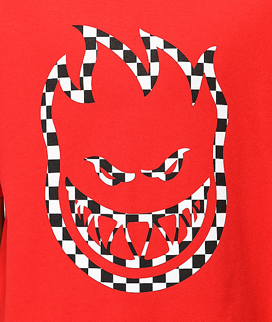 Spitfire Checkered Bighead camiseta roja