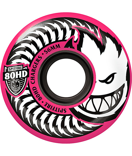 Spitfire Classic Chargers 56mm 80HD Pink Skateboard Wheels