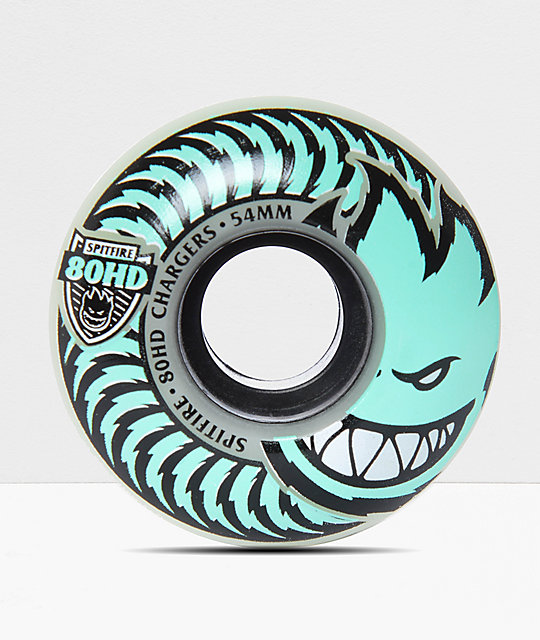 Spitfire Classic Chargers Stay Lit Glow In The Dark 54mm 80HD Skateboard Wheels