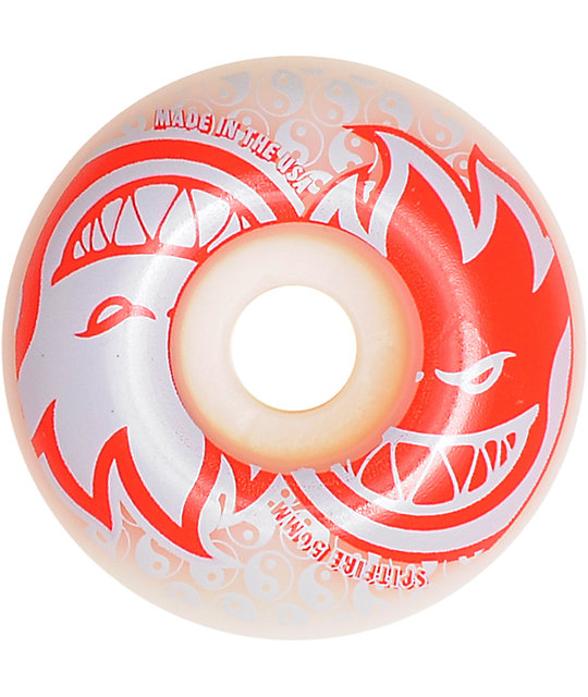 Spitfire Eternal White & Red 56mm Skateboard Wheels
