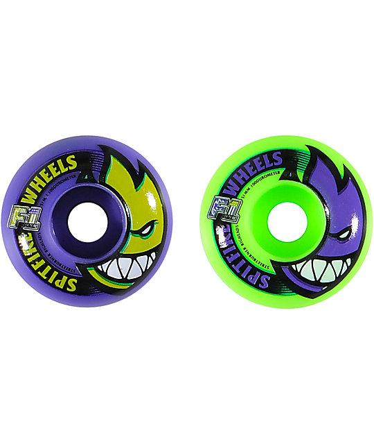 Spitfire F1 Big Head Mashup 51mm Purple & Green Skateboard Wheels