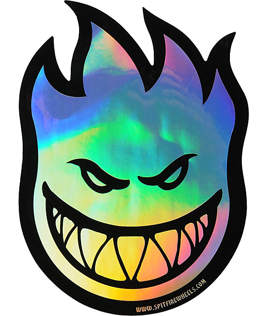 Spitfire Fireball Medium Prism Sticker