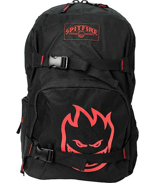 Spitfire Firefly Black & Red Skate Backpack