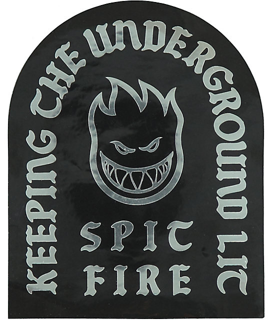 Spitfire Keeping The Underground Lit Silver & Black Sticker
