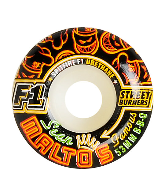 Spitfire Malto Fire It Up 53mm Streetburner Skateboard Wheels