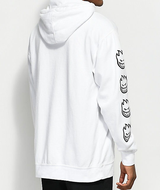 Spitfire Old English White & Black Hoodie