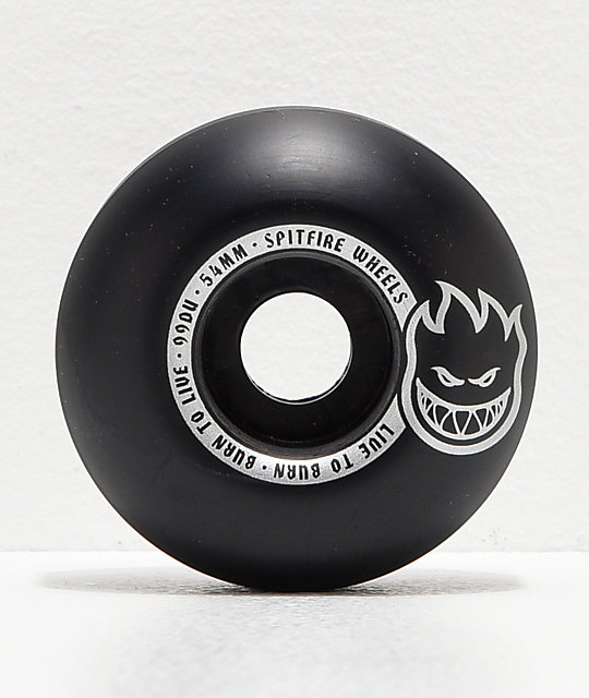 Spitfire Scorchers Black & Silver 54mm 99a Skateboard Wheels