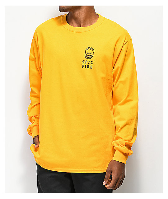 Spitfire Steady Rockin Gold Long Sleeve T-Shirt