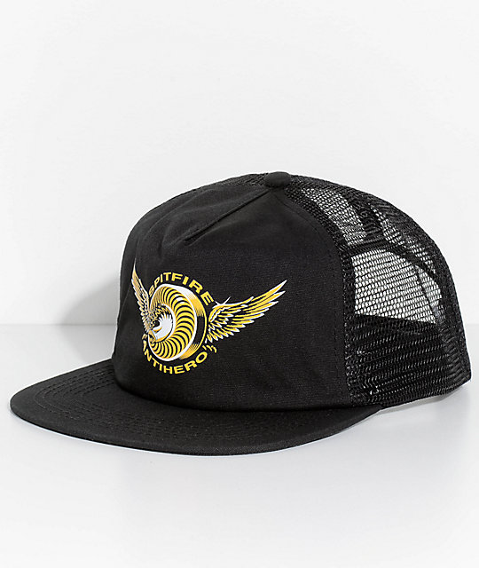 b849eb8d454 Spitfire x Anti Hero Black Trucker Hat