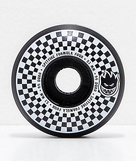 Spitfire x Vans Formula Four Classic 53mm 99a Black & White Checkerboard Skateboard Wheels