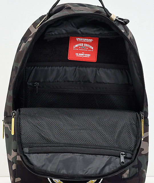 Sprayground  Respect Chenille & Camo Backpack