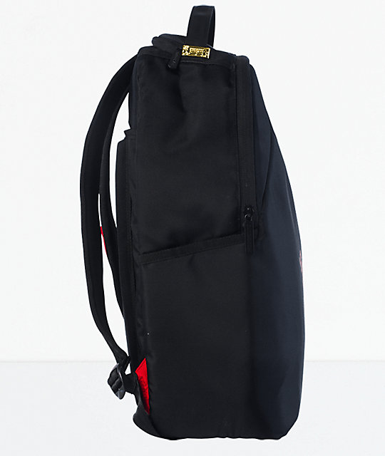 Sprayground Angled Ghost Shark Black Backpack
