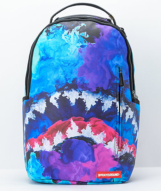Sprayground Color Drip Blue Vegan Backpack