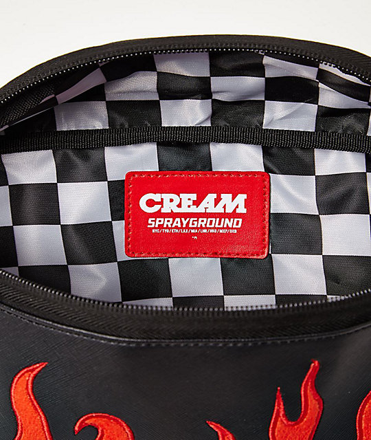 Sprayground Cream Flame Fanny Pack
