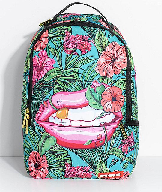Sprayground Jungle Lips Backpack | Zumiez