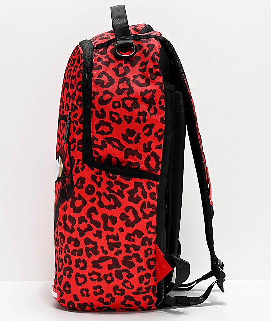 Sprayground Leopard Lips Red Backpack