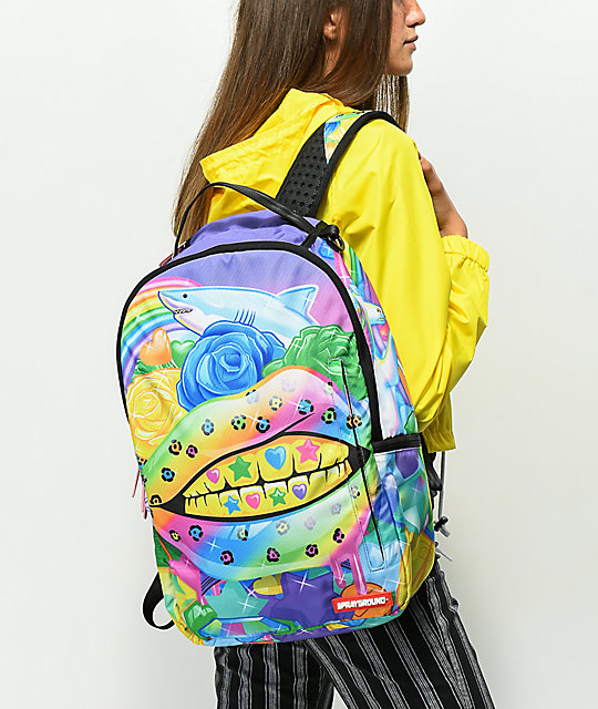 Sprayground Rainbow Life Lips Backpack