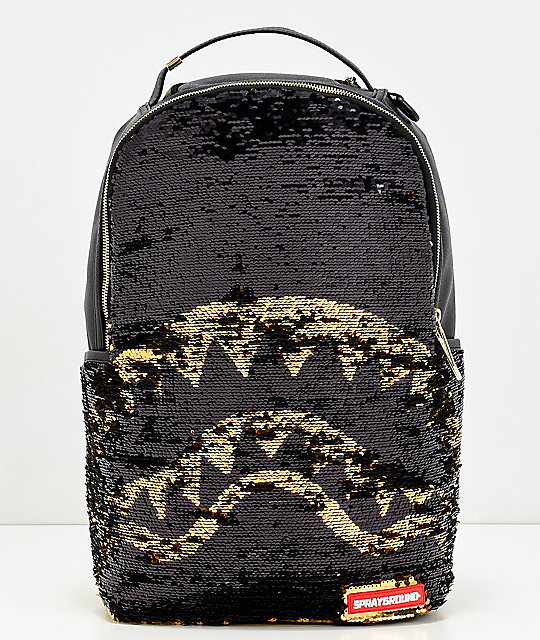 Sprayground Sequins Shark Mouth Backpack