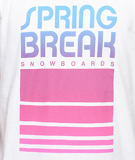 Spring Break Retro Classic camiseta blanca