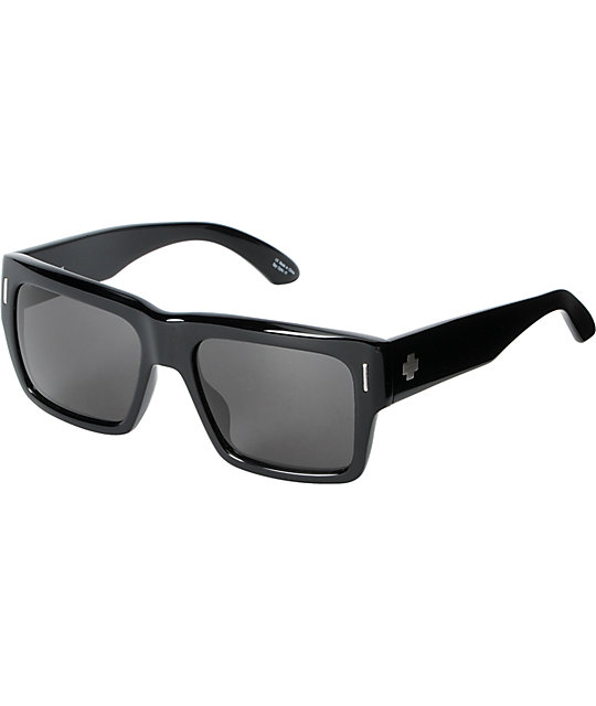 Spy Bowery Gloss Black & Grey Sunglasses