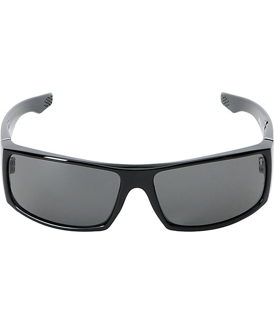 Spy Cooper XL Gloss Black & Grey Polarized Sunglasses